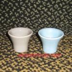 2 coquetiers céramique bleu et violet