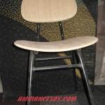 chaise skaï faux bois