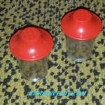 sel et poivre plastique rouge