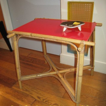 table bamboo opaline