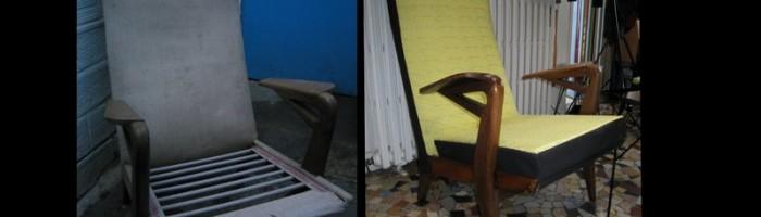 fauteuil knoll et table lampe