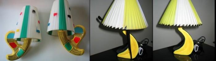 transformation divers abajours, lampes, étagères etc