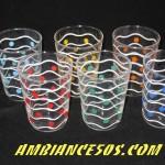 6 verres petits poids 6 couleurs.1
