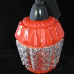 plafonnier opaline cuisine rouge