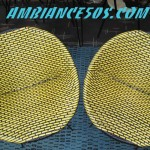 paire de fauteuil jaune et noir