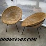 paire de fauteuils bambou.4