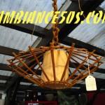 plafonnier bambou