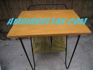 table porte disques scoubid vert jaune.3