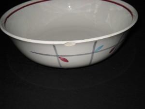 service vaisselle bleu et rouge.6