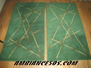 paire de tapis vert.2