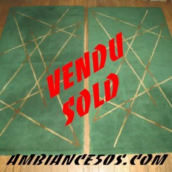 paire de tapis vert.2 vendu