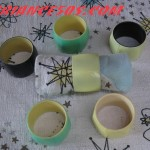 6 ronds de serviettes bicolore.1