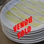 assiettes tambour.4 vendu