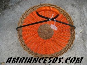 corbeille bambou fer et scoubldou orange.1