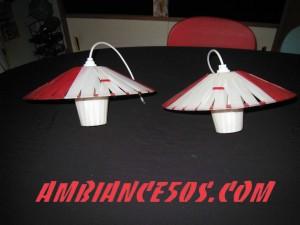 plafonnier rouge lanière 1