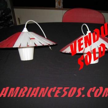 plafonnier rouge lanière 1 vendu