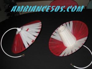 plafonnier rouge lanière.2