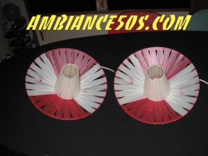 plafonnier rouge lanière.3