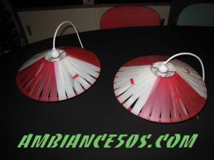 plafonnier rouge lanière.4