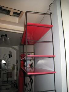 étagère rouge destock.5